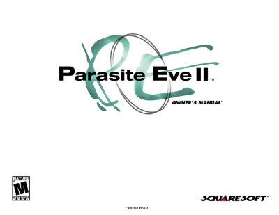 Parasite Eve II – Owner's Manual - обложка